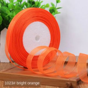 WSTĄŻKA organza orange 6mmx25m