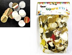 MIX GOLD/WHITE 50G op. KONFETTI DO BALONÓW