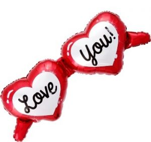 Balon OKULARY I LOVE YOU! 98X49CM